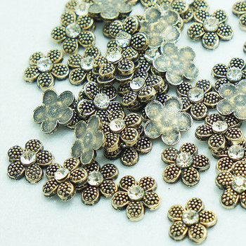 SINUAN Metal Spikes For Shoes Hot-Fix Rivet Flower Diamond Rivet 10Mm Spikes For Clothes Painted Studs Craft Beads For Clothes