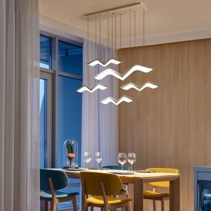 Image 2 - Seagull modeling Modern LED Pendant Lights For Living Room Dining room Kitchen Home Hanging Deco Suspension Lighting Fixtures