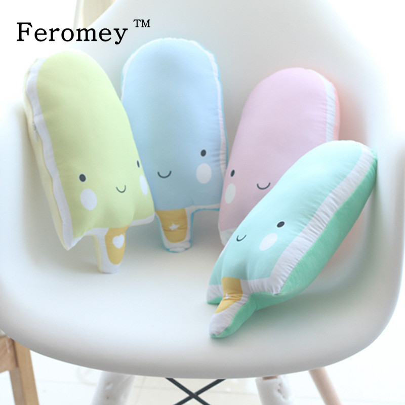 цена Creative Lovely Popsicle Pillow Plush Doll Toys Kawaii Ice Pop Ice Cream Stuffed Toys Doll Kids Baby Appease Toy Home Decor 30cm онлайн в 2017 году