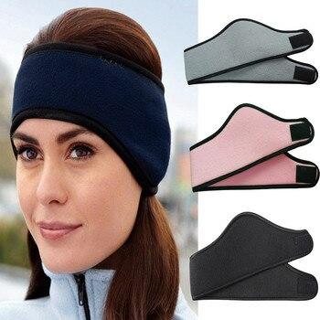1 Pcs unisex headwear women men ear winter head bands  polar fleece ski ear muff stretch Hair Accessories bandeau cheveux 010JM beanie