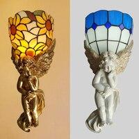 Свет зал Настенные светильники освещение спальни лампа ночники бра простой современный Средиземноморский стиль настенный светильник ZA830510