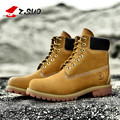 Z.SUO Men's shoes British Martin boots Men's autumn/winter fashion tooling boots Male rhubarb boots Genuine Leather short boots