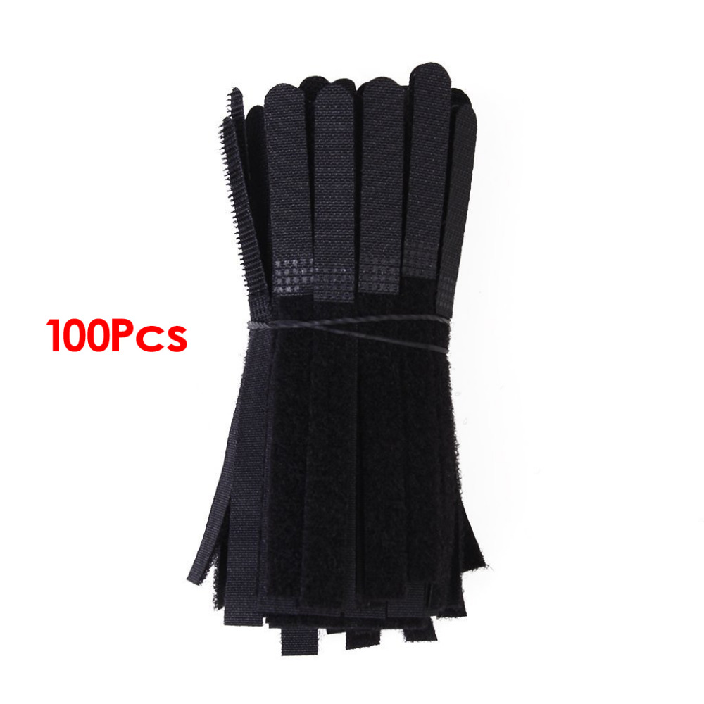 NEW Hot Approximately 100pcs Cable Tie Cable Ties Black Straps