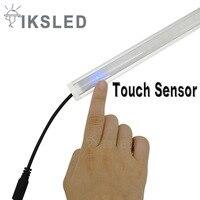 2 шт. 5050 жесткой Светодиодные полосы 50 см/шт. DC12V свет бар сенсорный датчик затемнения 36 светодиодов жесткий Светодиодные ленты бар свет с alu