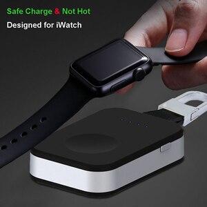 Image 4 - Caricabatterie Wireless Power Bank per iWatch 1 2 3 4 5 6 portachiavi Mini batteria esterna portatile per caricabatterie Wireless Apple Watch