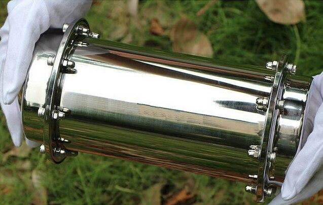 Doprava zdarma Čas stroj čas kapsle Nerezová ocel Tube Lock přes čas vzpomínek Dejte si dar budoucnosti