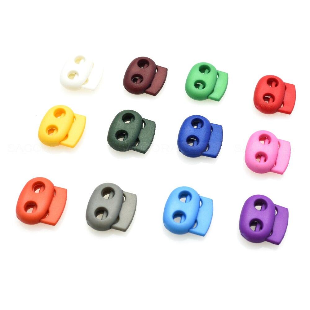 1000 pcs/paquet mélangé coloré 5mm trou en plastique bouchon cordon serrure haricot à bascule Clip vêtements lacet Sportswear accessoire