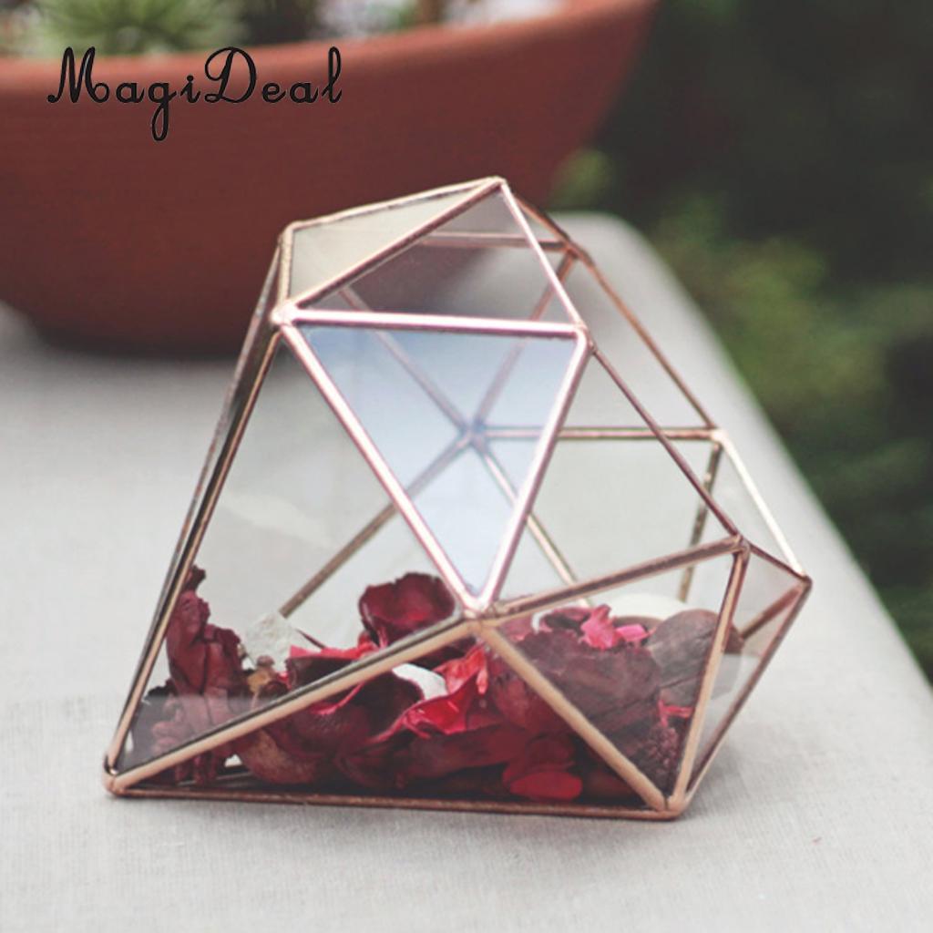 MagiDeal Diamond Shape Flower Pot Storage Box for Home Decoration ...