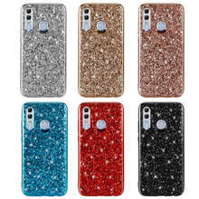 For Huawei Honor 10i Honor10i 10 i 6.21 inch Case Silicon Bling Glitter Crystal Sequins Soft TPU Cover for HRY-LX1T