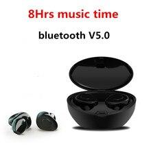 Profissional Gêmeos Mini 3D Verdadeiro Som Estéreo 5.0 fone de Ouvido Bluetooth Invisível Sem Fio Fones de Ouvido Do Esporte com Banco De Potência À Prova D' Água