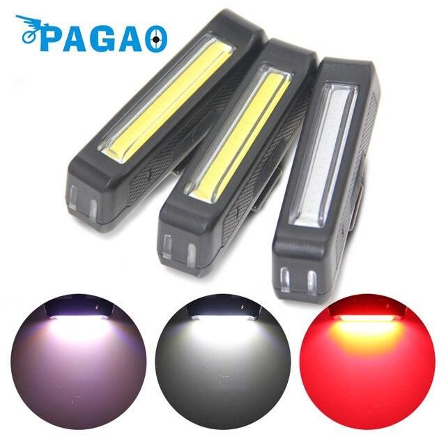 pagao usb opladen fiets achterlicht ultra heldere 6 verlichting modi roodwit led verlichting