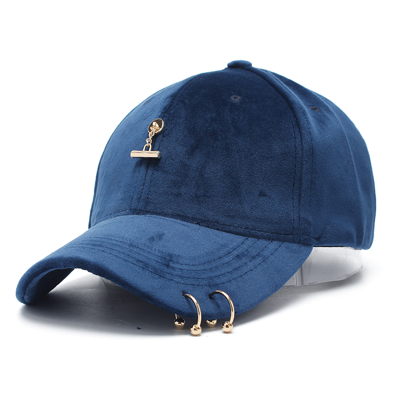 ROSELUOSI Men's Baseball Caps Women Autumn Winter Hat Snapback Cap With Rings Casual Solid Color Hats Female Bone Casquette 2017 new solid color baseball cap polo hats for men or women autumn and winter outdoor bone cap hat
