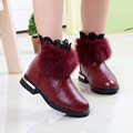 2016 Autumn Winter New Korean Short Thickening Solid Color Breathable Anti-slip Rubber Sole Soft Leather Fashion Boots