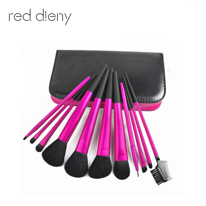 11 Pcs Soft Wool Hair Makeup Brushes Set Pro Foundation Powder Concealer Eyeliner Eyebrow Eye Shadow makeup brush With Bag Case learnever makeup set eye shadow eyeliner liquid eyebrow pencil mascara powder cake foundation lipstick blush concealer maquiagem