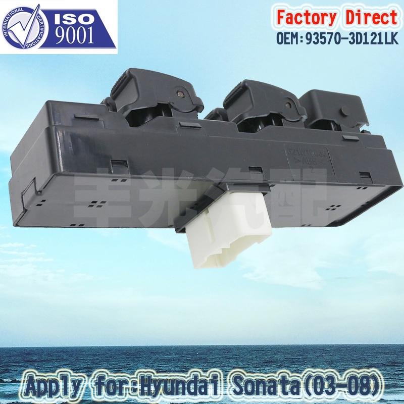 Factory Direct Auto Power Window Main Swicth Apply For HYUNDAI Sonata 03-08 LHD 93570-3D121LK 14Pins