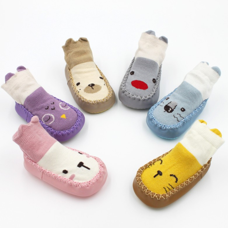 Toddler Baby Girl Boy Shoes First Walker Newborn Baby Cartoon Newborn Baby Girls Boys Anti-Slip Socks Slipper Shoes Boots