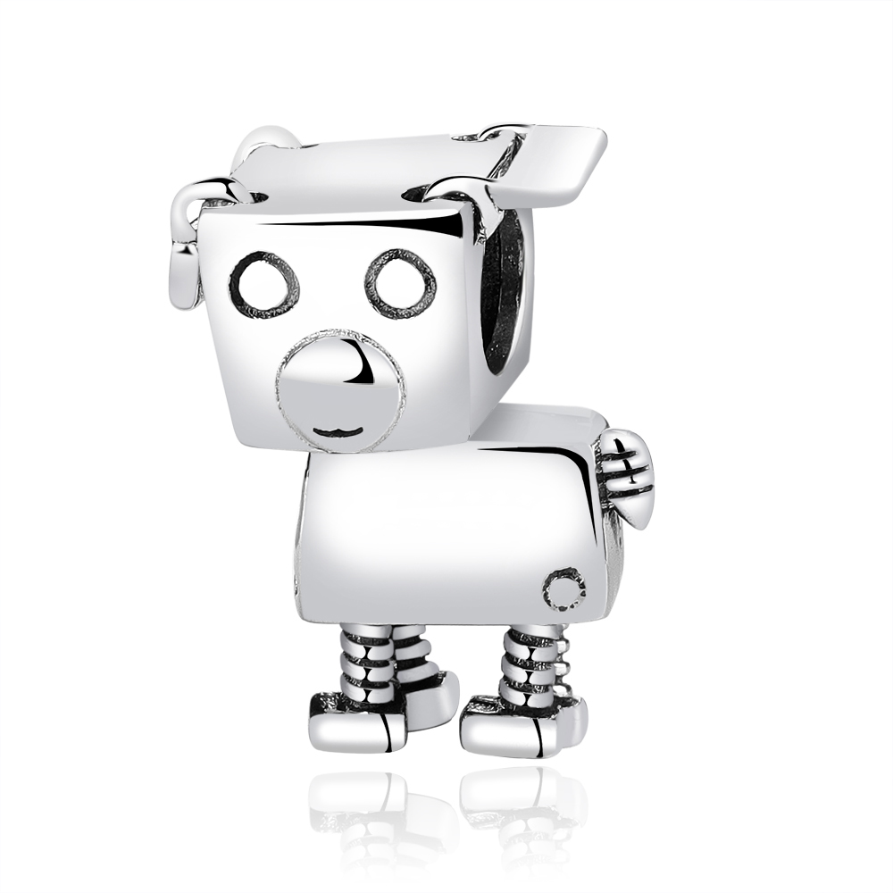Free Shipping Authentic 925 Sterling Silver Bead Bobby Bot