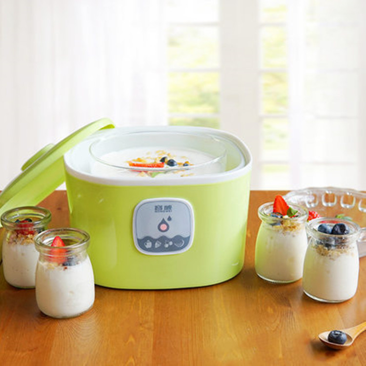Natto,Yogurt and rice wine 3 in 1 Automatic Maker Fried yogurt machine household automatic mini glass liner natto yogurt maker hot selling electric yogurt machine stainless steel liner mini automatic yogurt maker 1l capacity 220v