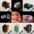 Talladas a mano Animal Hombres Joyería Negro Natural de Obsidiana Arco Iris de Piedra Colgante de Collar de Cuentas de Cristal de Moda para Niños Regalos 220_H