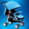 Portátil cochecito de bebé puede sentarse y acostarse comodidad portable del cochecito de bebé de coche de bebé