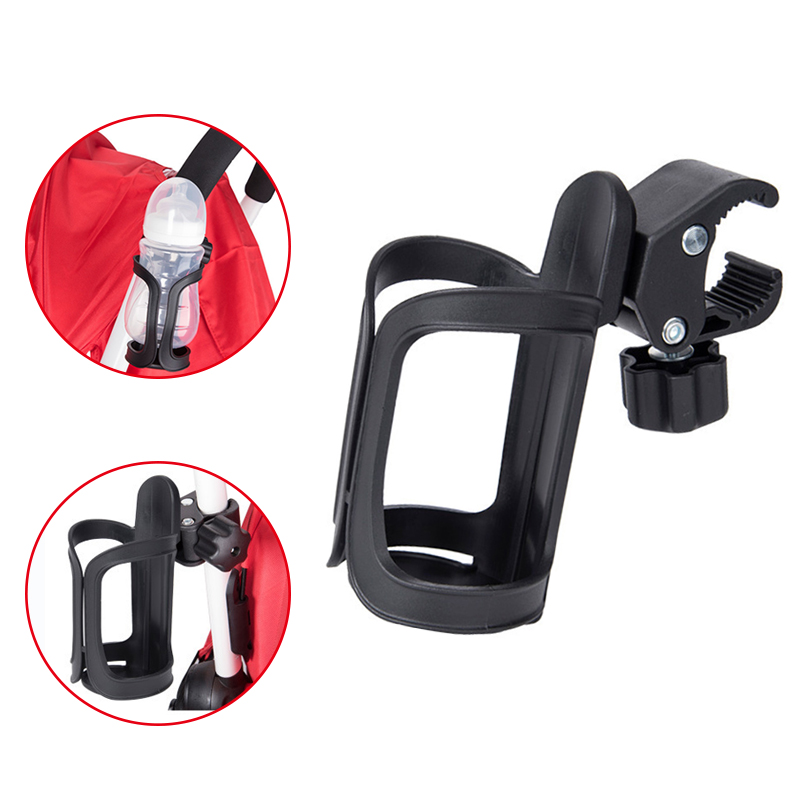 New Baby Stroller Cup Holder Rack Bottle Universal 360 Rotatable Cup Holder For Pram Stroller Carrying Case Milk Bottle Cart