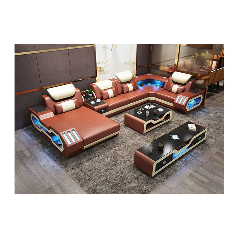 US $1888.0 |Wholesale living room furniture cheap leather corner sofa set 7  seater sectional-in Living Room Sofas from Furniture on AliExpress
