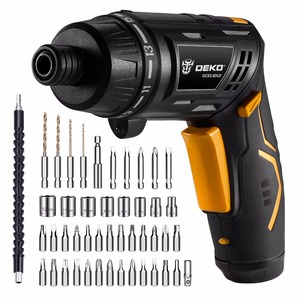 Image 4 - DEKO DCS3.6DU2 Cordless Electric Screwdriver DIY Household Rechargeable battery Screwdriver with Twistable Handle with LED Light