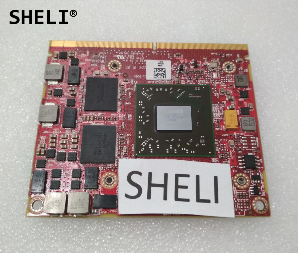 SHELI 5FXT3 CN-05FXT3 M5100 2GB DDR5 VGA Graphics Video Card for Dell M4800 M4700 M4600