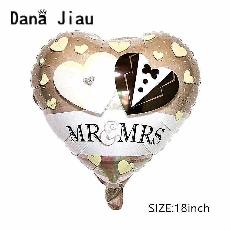 High quality MR& MRS Happy ever after wedding Balloon LOVE RING Foil ball Valentine's Day decoration lady white Helium Ballon