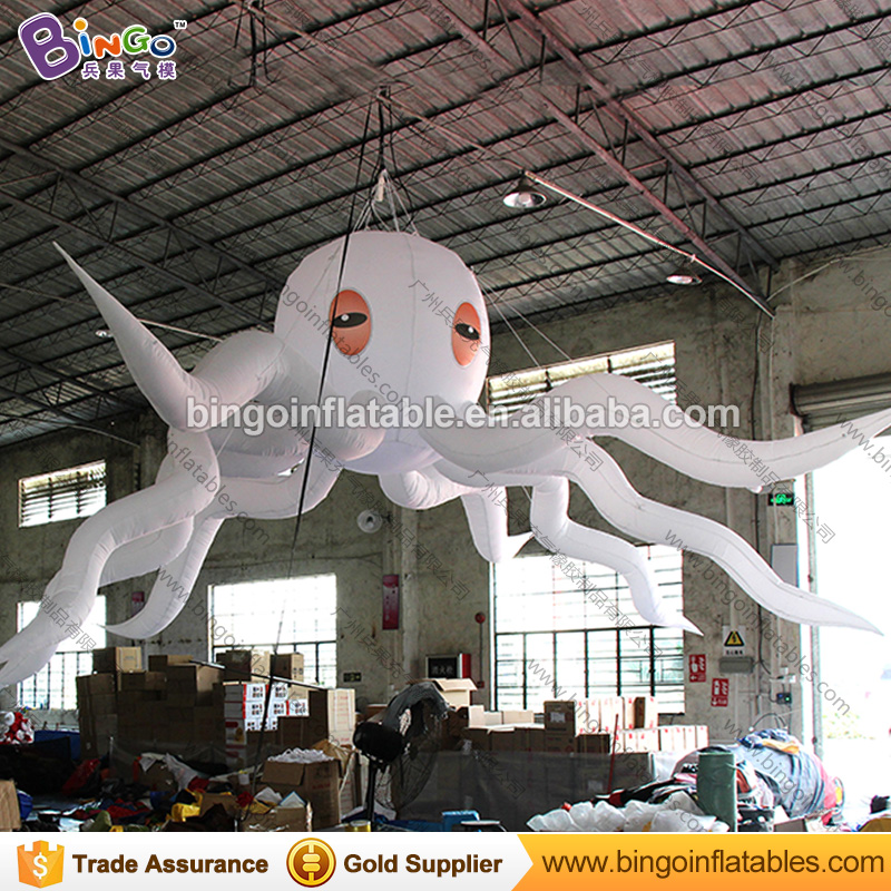 Dia 26ft. giant inflatable devilfish white octopus balloon with LED lightDia 26ft. giant inflatable devilfish white octopus balloon with LED light