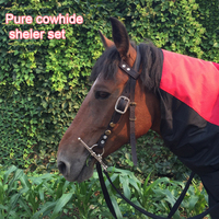 Ma Shui Le Ma bridle, pure leather, horse bit, rein, mouth, lead, essence, riding saddle harness, equestrian supplies, mail.