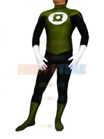Army Green & Black Green Lantern Superhero Costume adult halloween cosplay costumes zentai suit