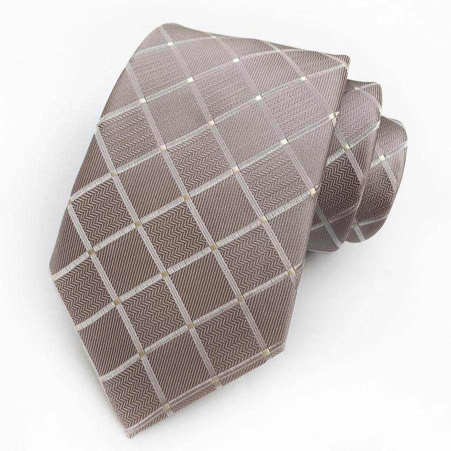 Men's Formal Necktie with Grids 5