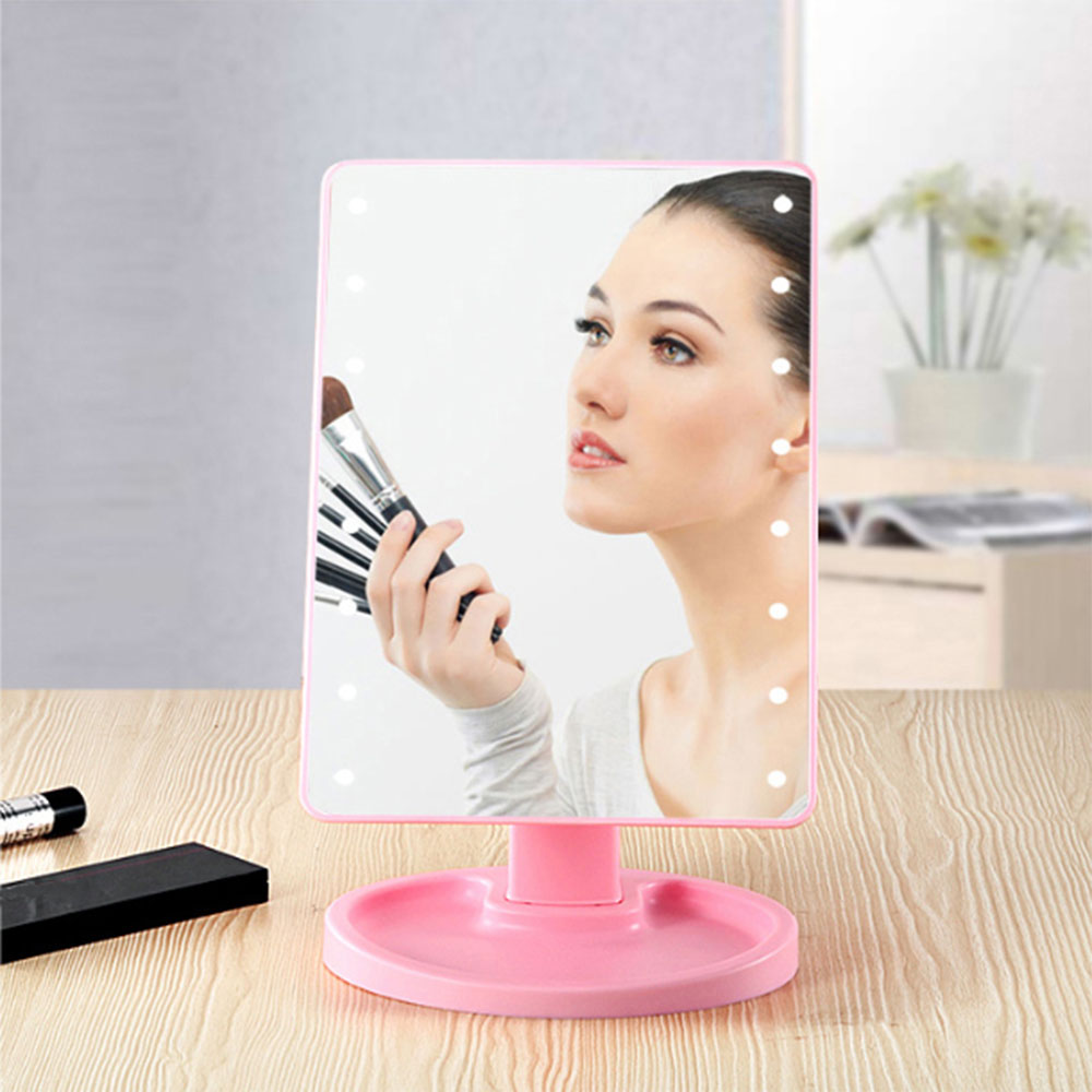 Touch Screen Makeup Mirror With 22 LED Soft Light Adjustable USB Rechargeable All Round Illumination Makeup Mirror Dropshipping