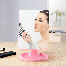 Touch Screen Makeup Mirror with 22 LED soft Light Adjustable USB Rechargeable all-round illumination mirror Dropshipping