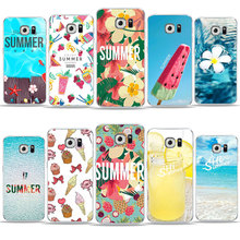 ФОТО summer series sea watermelon ice cream floral case for samsung galaxy s6 s7 edge s8 s9 plus a6 2018 j1 glossy tpu silicone cover
