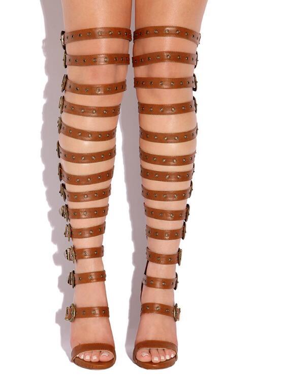 Über Riemen Schuh Frauen Stiefel Picture Weibliche Schnallen Hot High As Picture Das Heel Mode Klassische Damen Sexy Sommer Gladiator Stil Knie as Kleid t8wUnfqE