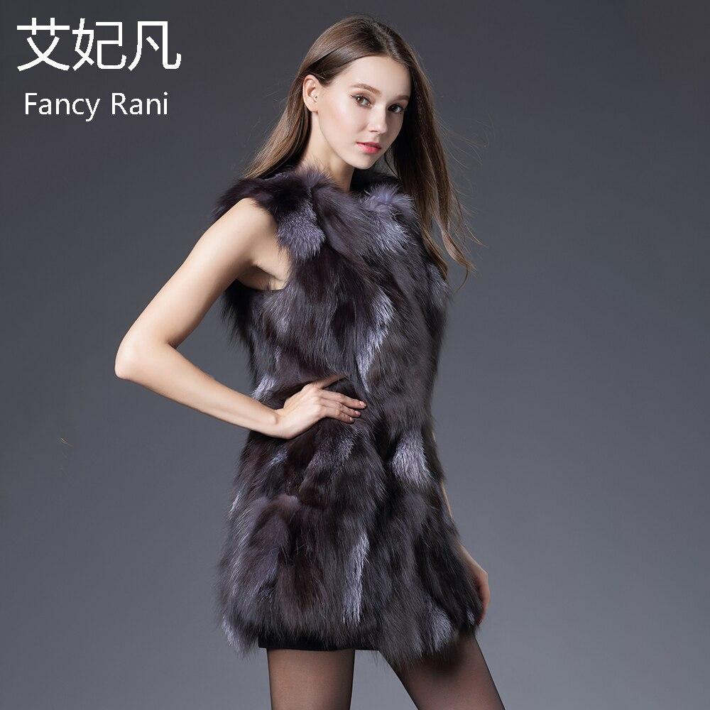 Moyen Fourrure Renard Qualité Ruban Manteau Haute Naturel Vestes Véritable Réel Mode Russe De Long Gilet D'hiver Gray 8CEttpqw