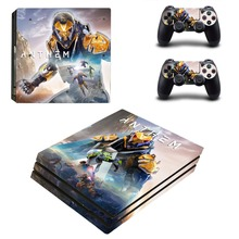 Anthem PS4 Pro Skin Sticker For Sony PlayStation 4 Pro Console and Controllers PS4 Pro Stickers Decal
