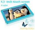 Reproductor de mp3 original de 4.3 pulgadas de pantalla táctil 8 gb usb Multifuncional hd ultra-delgado 4 colores el envío libre