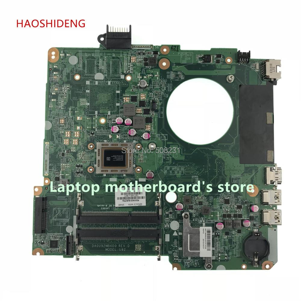 HAOSHIDENG 737140-501 737140-001 motherboard For HP PAVILION 15-N laptop motherboard U92 DA0U92MB6D0 REV:D A8-4555M fully Tested 737140 501 737140 001 for hp pavilion 15 n laptop motherboard da0u92mb6d0 revd a8 cpu free shipping 100