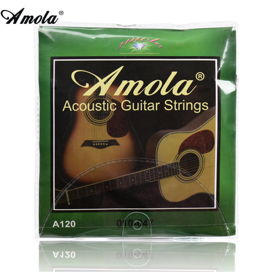 6 strings Amola 010  012 011 Acoustic Guitar Strings Wound Guitar Strings amola 009 010 regular light gauge nickel alloy wound electric guitar strings e1300