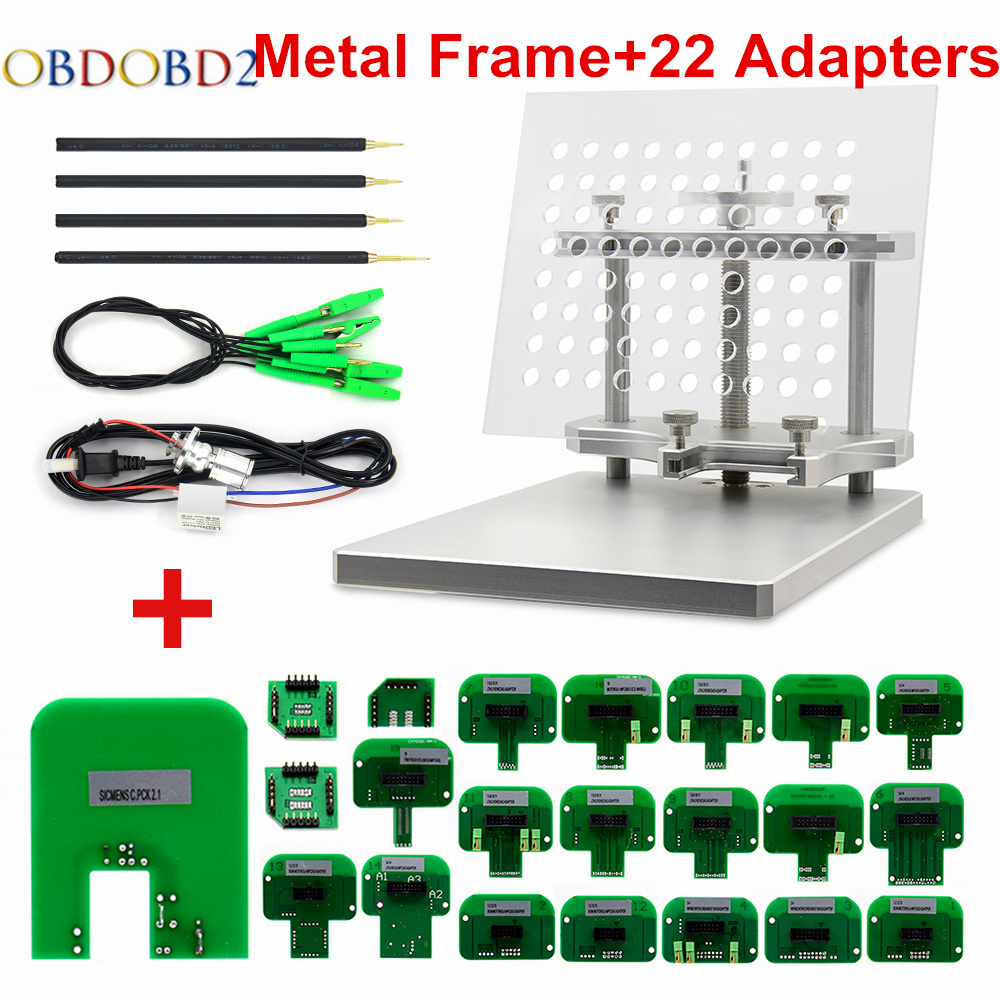 2018 Stainless LED BDM Frame 22 Adapters ECU Chip Tuning Tool For CMD 100 Full Sets