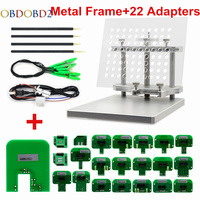 2018 Stainless LED BDM Frame 22 Adapters ECU Chip Tuning Tool For CMD 100 Full Sets Fits For KTAG KESS Galletto FGTECH