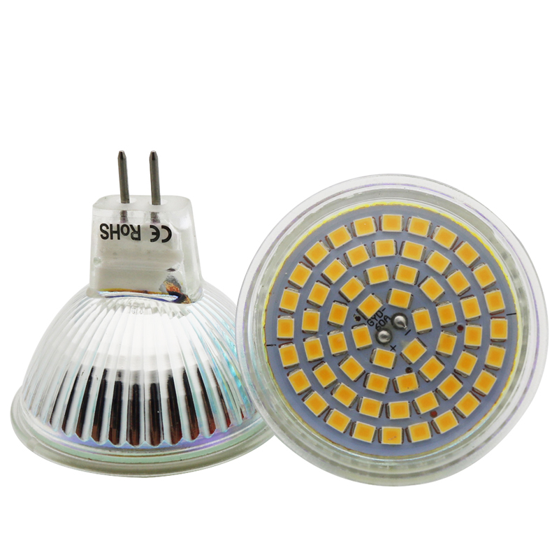 1x MR16 400lm 5w SMD 3528 60 LEDS Light Bulb With Glass Cover Warm White Cold White AC 12V Spotlight Spot LED Lamp