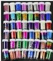 50% de desconto Mais Recente 47 cores Prego Transferência Art Craft folha Moda DIY etiqueta do prego Ponta 20 rolos/lote, 4X120 CM