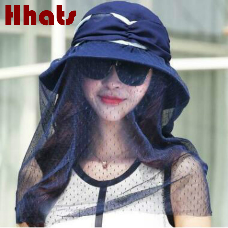 Which In Shower Fashion Foldable Summer Veil Sun Hat Anti-mosquito Face Neck Cover Hiking Fishing Hat Casual Wide Brim Women Cap