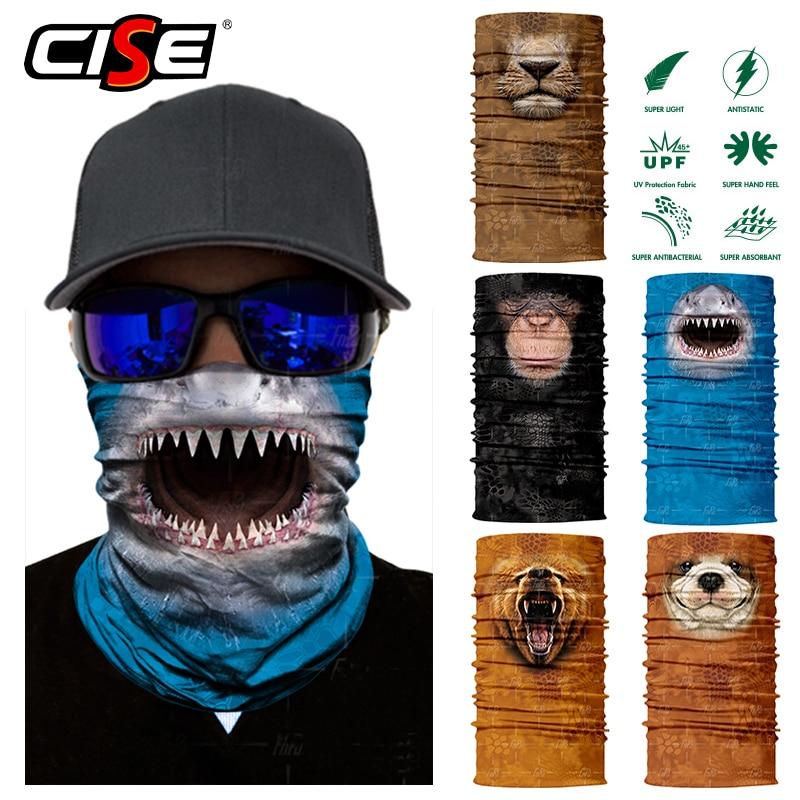 3D Seamless Shark Lion Balaclava Magic Face Mask Warmer Motorcycle Outdoor Riding Ski Neck Gaiter Shield Tube Durag Men Sun