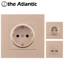 цена на EU France Standard 16A Wall Socket Power Outlet Enchufe Electrical Plug AC 110~250V Plug Electrical Outlet PC Plastic Panel