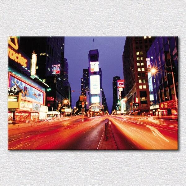Impressions sur toile peintures belle paysage urbain peinture de new ...